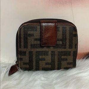 Fendi bifold wallet with coin zipper coin purse